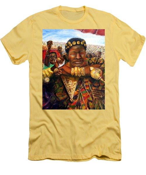 Ethiopia Dancing  Men's T-Shirt (Slim Fit) by Bernadette Krupa