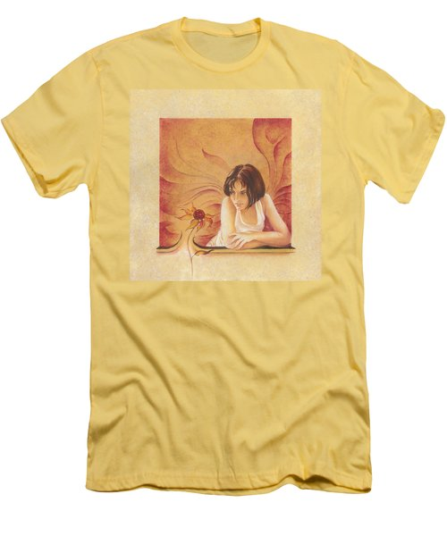 Everyday Angel With Flower Men's T-Shirt (Athletic Fit)