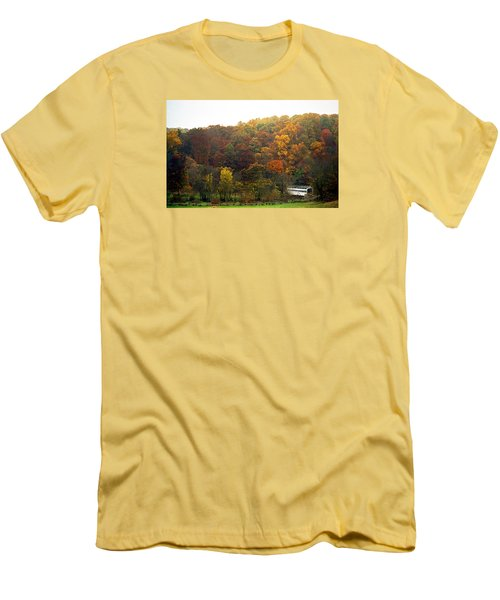Fall At Valley Forge Men's T-Shirt (Slim Fit) by Skip Willits
