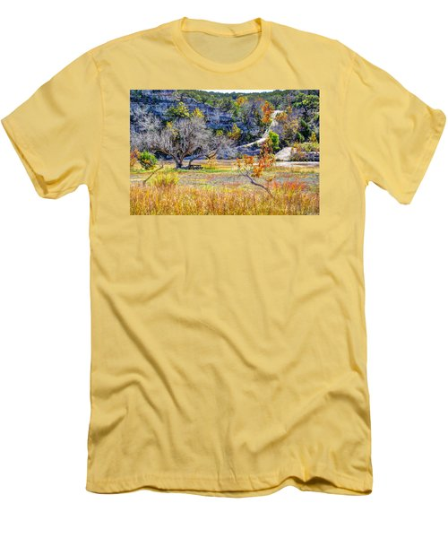 Fall In The Texas Hill Country Men's T-Shirt (Slim Fit) by Savannah Gibbs