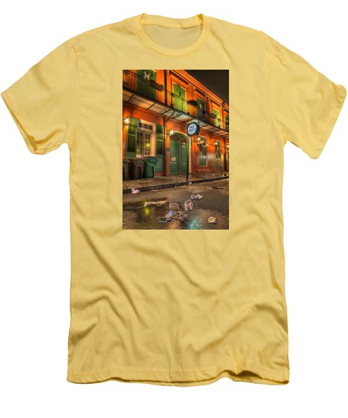 Men's T-Shirt (Slim Fit) featuring the photograph Fall-out From Pat O'briens by Tim Stanley