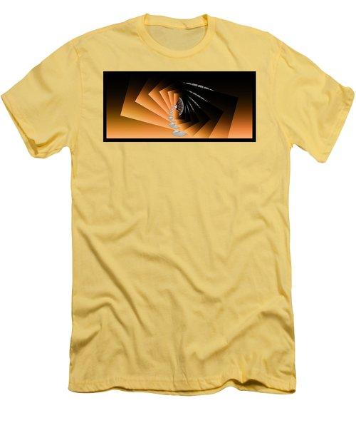Men's T-Shirt (Slim Fit) featuring the digital art Fantasim Orange by Paula Ayers