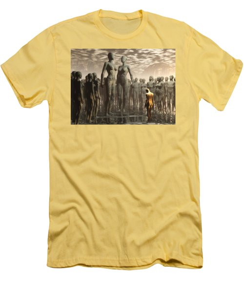 Fate Of The Dreamer Men's T-Shirt (Slim Fit) by John Alexander
