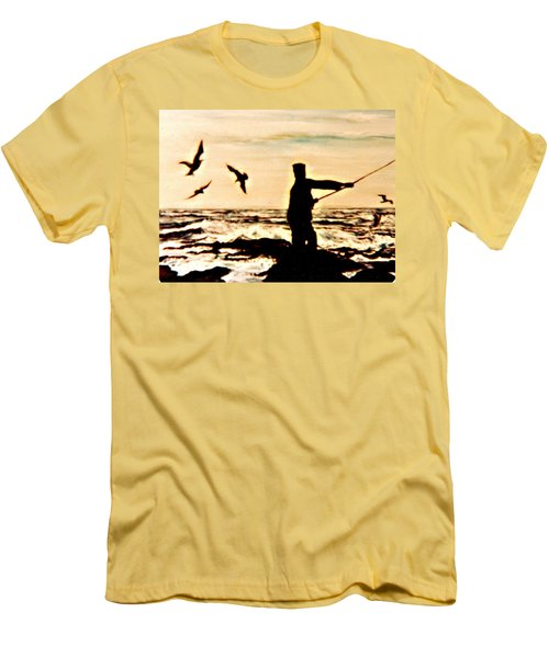 Father Fisherman Men's T-Shirt (Slim Fit) by Desline Vitto