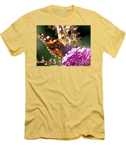 Feeding Men's T-Shirt (Slim Fit) by Eunice Miller