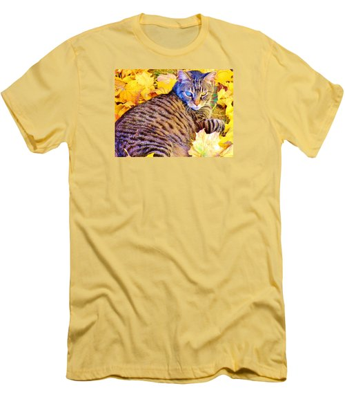 Men's T-Shirt (Slim Fit) featuring the photograph Feeling Fall by Marilyn Diaz