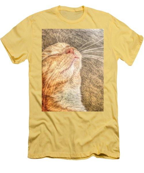 Feline Bliss Men's T-Shirt (Athletic Fit)