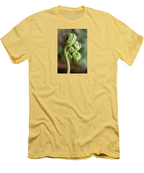 Fern Bud Men's T-Shirt (Slim Fit) by Venetia Featherstone-Witty