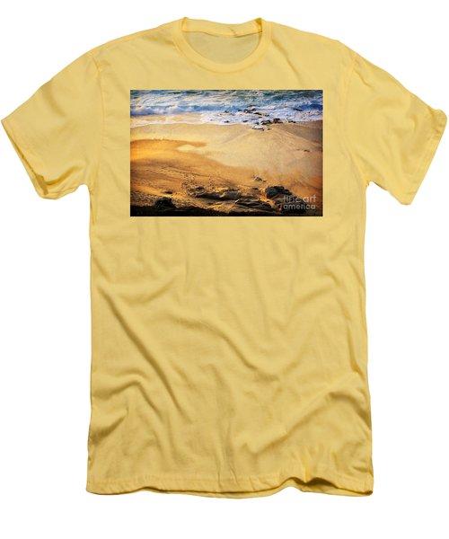 Men's T-Shirt (Slim Fit) featuring the photograph Fiery Beach by Ellen Cotton