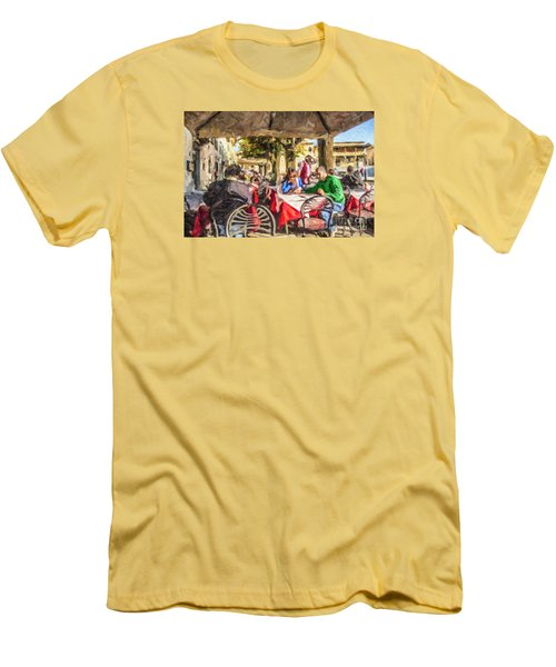 Fiesole Al Fresco Men's T-Shirt (Slim Fit) by Liz Leyden