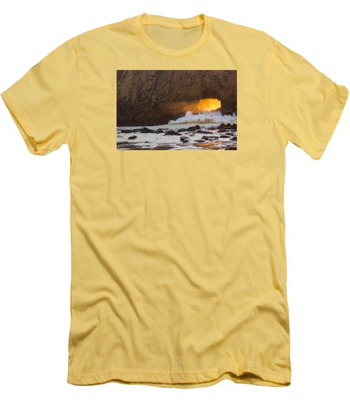 Fire In The Hole Men's T-Shirt (Slim Fit) by Suzanne Luft