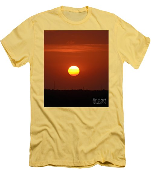 Men's T-Shirt (Slim Fit) featuring the photograph Fire In The Sky by Kerri Farley