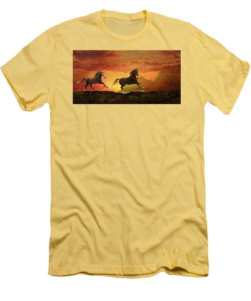 Fire Sky Men's T-Shirt (Slim Fit) by Melinda Hughes-Berland