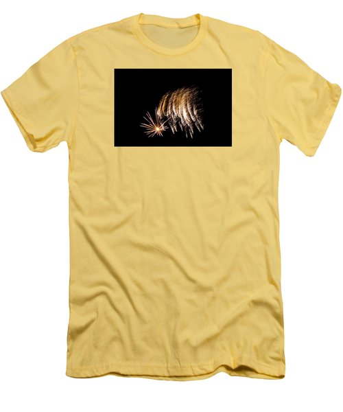 Men's T-Shirt (Slim Fit) featuring the photograph Fireworks 1 by Susan  McMenamin