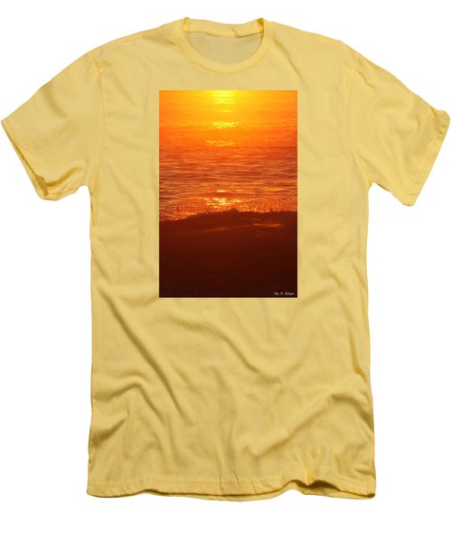 Flames With No Horizon Men's T-Shirt (Slim Fit) by Amy Gallagher