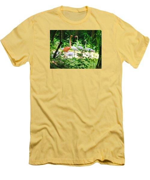Flamingo Men's T-Shirt (Slim Fit) by Oleg Zavarzin