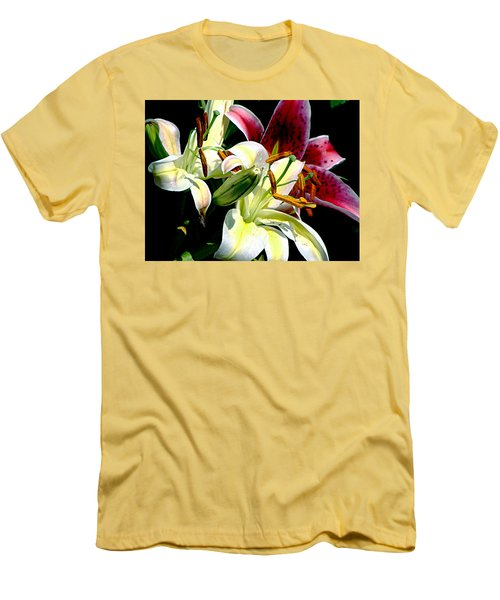 Men's T-Shirt (Slim Fit) featuring the photograph Florals In Contrast by Ira Shander