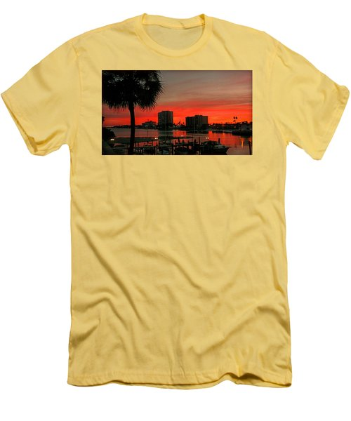Men's T-Shirt (Slim Fit) featuring the photograph Florida Sunset by Hanny Heim