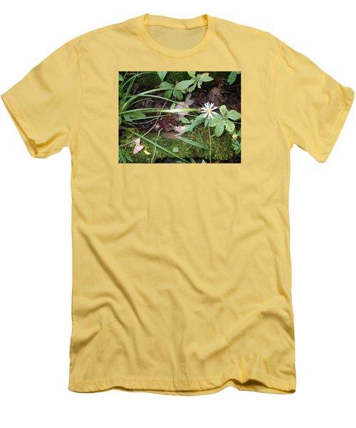 Flower In The Woods Men's T-Shirt (Slim Fit) by Robert Nickologianis