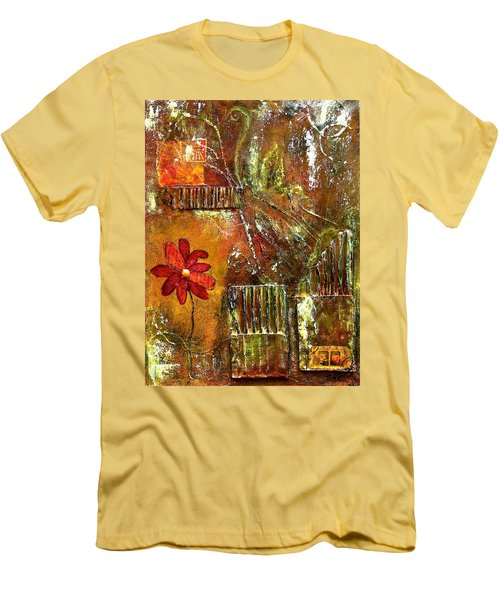 Flowers Grow Anywhere Men's T-Shirt (Slim Fit) by Bellesouth Studio