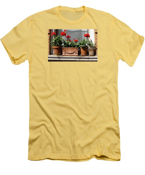 Men's T-Shirt (Slim Fit) featuring the photograph Flowers Of New York by Ira Shander