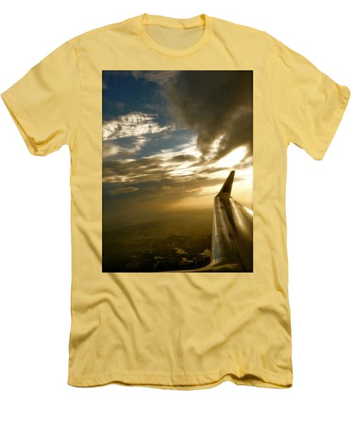 Flying Clouds By David Pucciarelli Men's T-Shirt (Slim Fit) by Iconic Images Art Gallery David Pucciarelli
