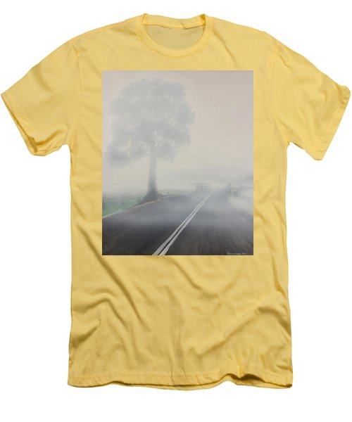 Foggy Road Men's T-Shirt (Athletic Fit)