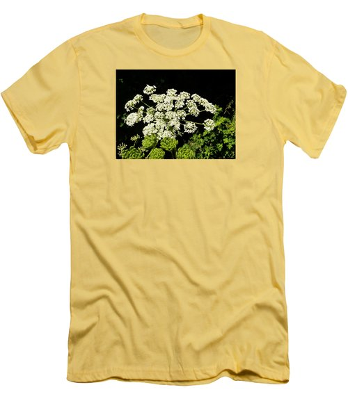 Men's T-Shirt (Slim Fit) featuring the photograph Forest Lace by VLee Watson