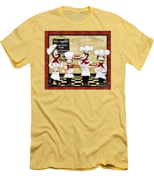 French Chefs-bon Appetit Men's T-Shirt (Slim Fit) by Jean Plout