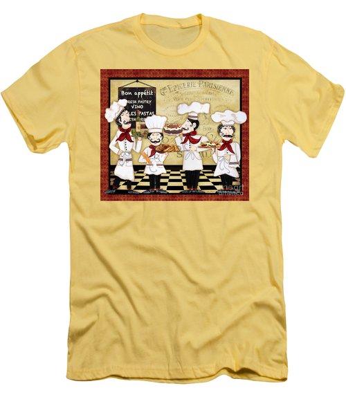 French Chefs-bon Appetit Men's T-Shirt (Athletic Fit)