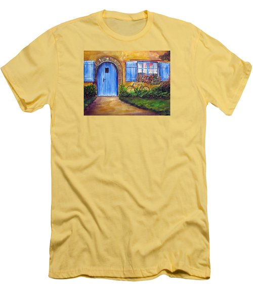 French Cottage Men's T-Shirt (Slim Fit) by Loretta Luglio
