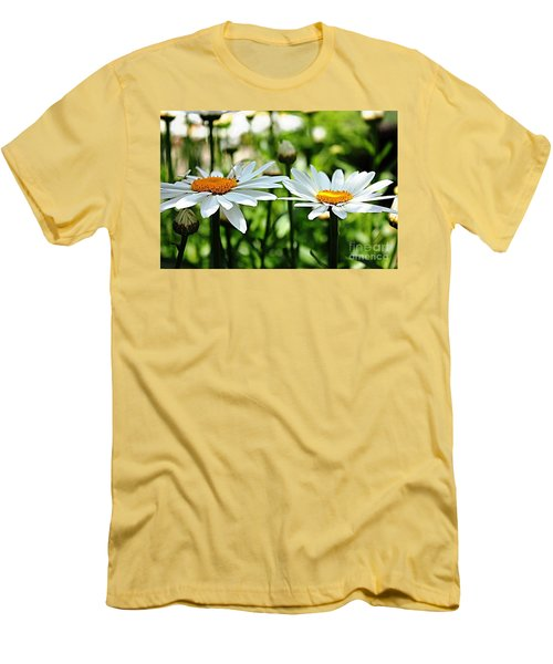 Men's T-Shirt (Slim Fit) featuring the photograph Fresh As A Daisy by Judy Palkimas