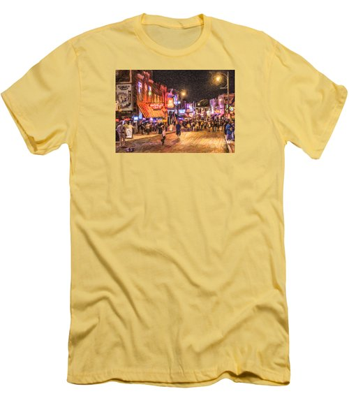 Friday Night On Beale Men's T-Shirt (Athletic Fit)