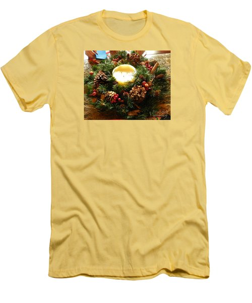 Friendly Holiday Reef Men's T-Shirt (Slim Fit) by Robin Coaker