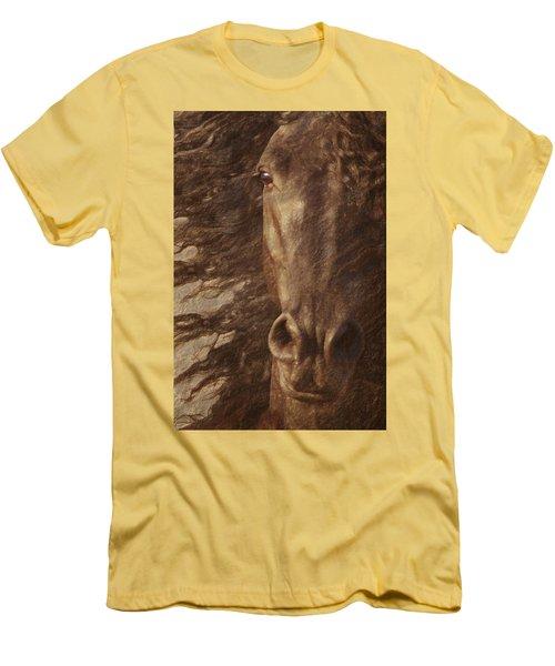 Friesian Spirit Men's T-Shirt (Slim Fit) by Melinda Hughes-Berland