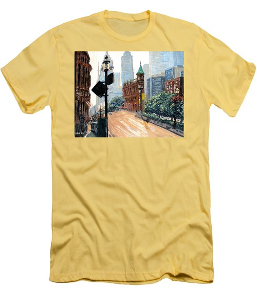Front And Church Men's T-Shirt (Slim Fit) by Ian  MacDonald