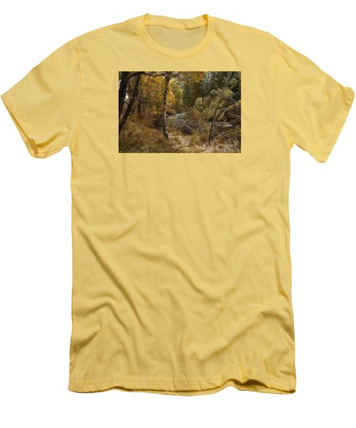 Frosty Fall  Morning Men's T-Shirt (Slim Fit) by Duncan Selby
