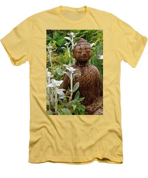 Garden Buddha Men's T-Shirt (Athletic Fit)