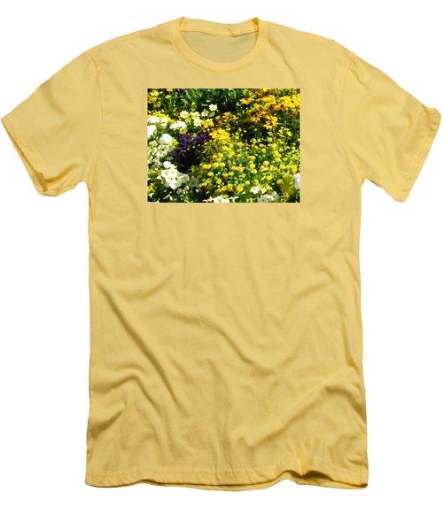 Garden Flowers Men's T-Shirt (Slim Fit) by Oleg Zavarzin