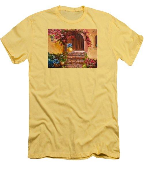 Garden Of Serenity Men's T-Shirt (Slim Fit) by Jenny Lee