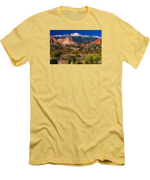 Garden Of The Gods In Autumn 2011 Men's T-Shirt (Slim Fit) by John Hoffman