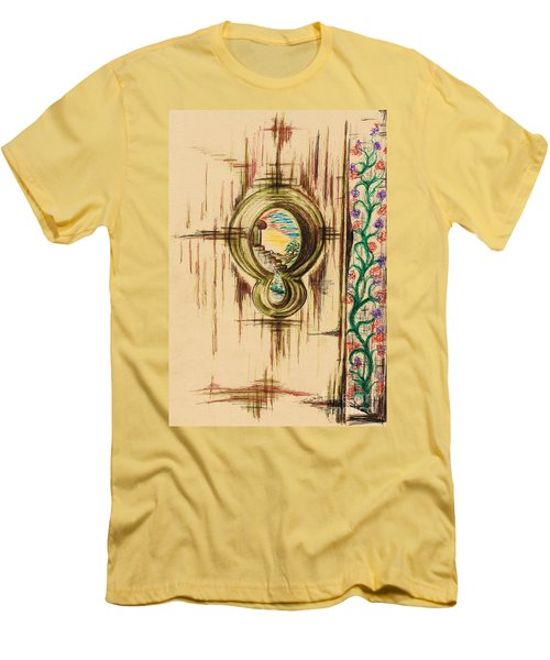 Garden Through The Key Hole Men's T-Shirt (Athletic Fit)