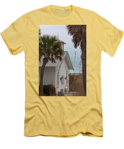 Men's T-Shirt (Slim Fit) featuring the photograph Gasparilla Island State Park Chapel by Ed Gleichman