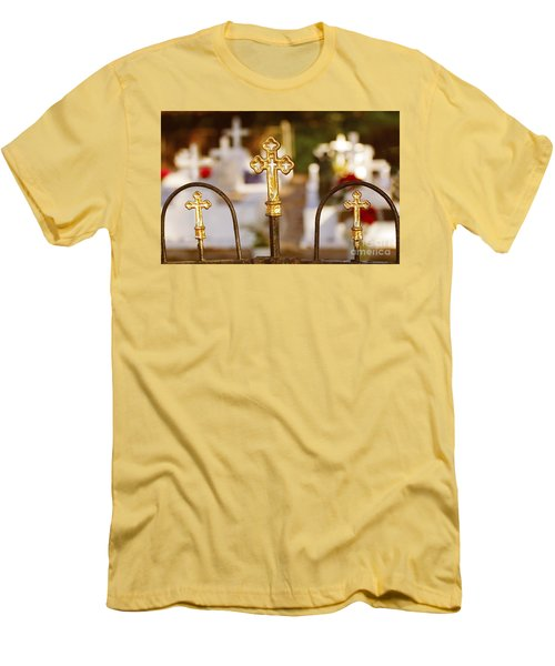 Men's T-Shirt (Slim Fit) featuring the photograph Louisiana Cemetery by Luana K Perez