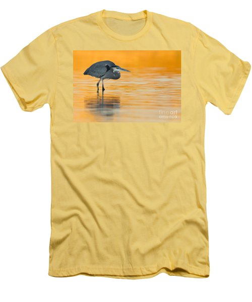 Men's T-Shirt (Slim Fit) featuring the photograph Gbh In Orange Water by Bryan Keil