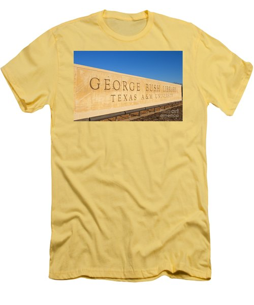 George H. Bush Library, Texas Men's T-Shirt (Athletic Fit)