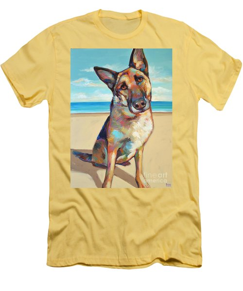 German Shepard  Men's T-Shirt (Slim Fit) by Robert Phelps