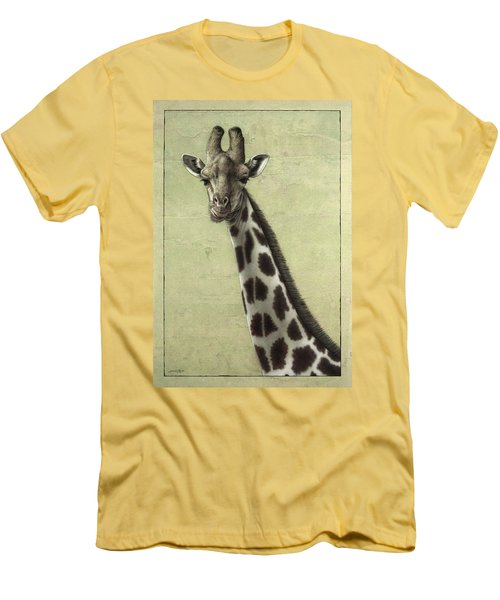 Giraffe Men's T-Shirt (Slim Fit) by James W Johnson