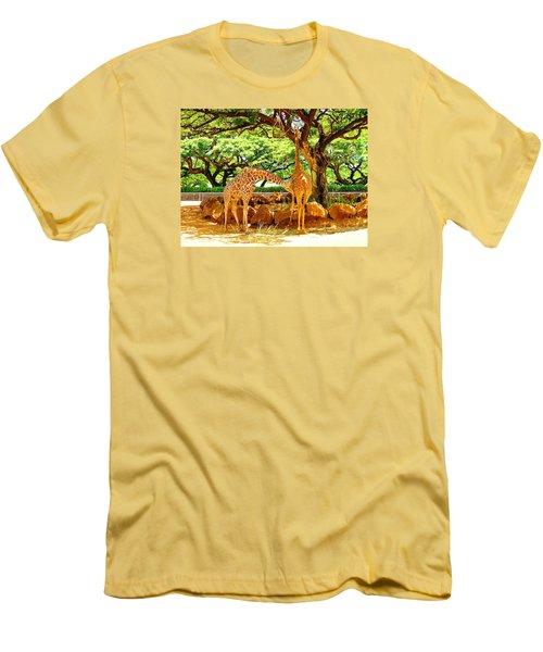 Giraffes Men's T-Shirt (Slim Fit) by Oleg Zavarzin
