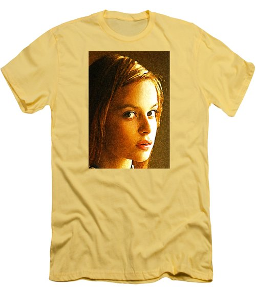 Men's T-Shirt (Slim Fit) featuring the painting Girl Sans by Richard Thomas